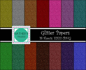 Digital Paper / Digital Background - Glitter