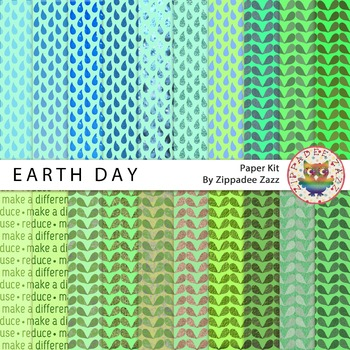 DOLLAR DEAL Digital Paper - Earth Day - 20 papers