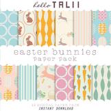 Digital Paper: Easter Bunnies