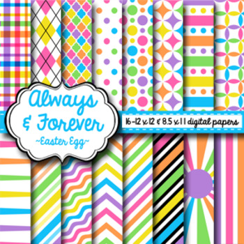 Digital Paper Easter Egg