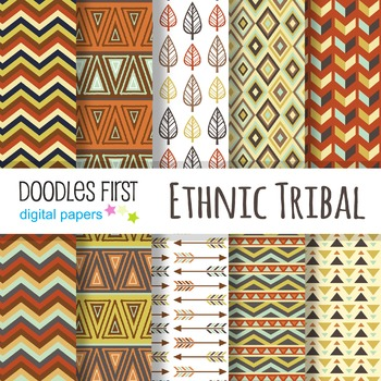 Digital Paper - Ethnic Tribal great for Classroom art projects