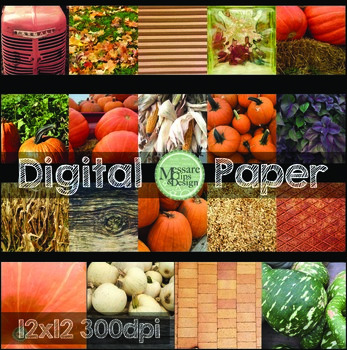 Digital Paper Fall Themed Photos and Backgrounds {Messare