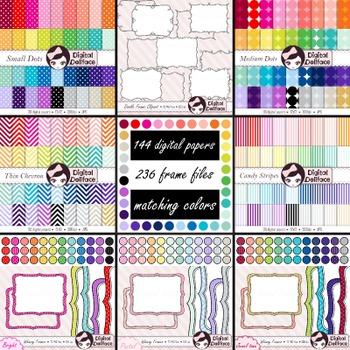 Digital Paper, Frames / Borders, Seller's Tool Kit Bundle