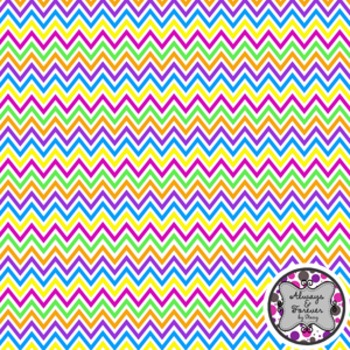 Digital Paper Freebie!  Colorful Chevron