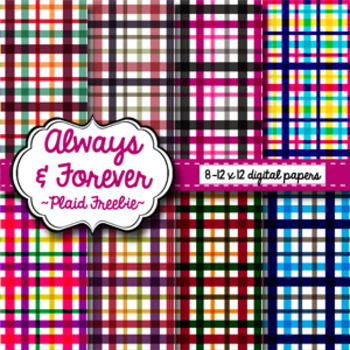 Digital Paper Freebie Plaids