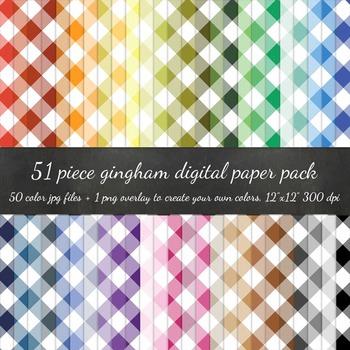 Digital Paper - Gingham + DIY Overlay