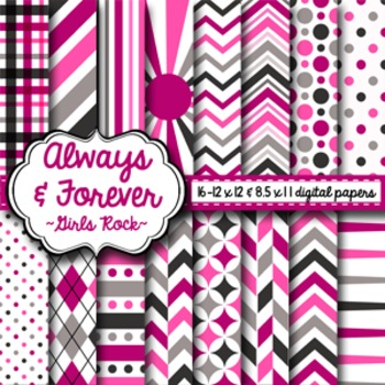 Digital Paper Girls Rock
