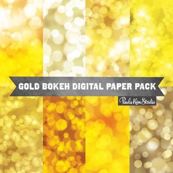 Digital Paper - Gold Bokeh