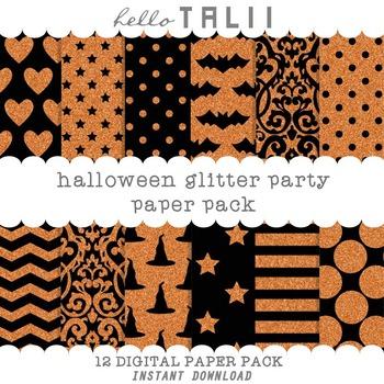 Digital Paper: Halloween Glitter Party