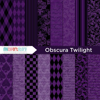 Digital Paper - Halloween / Obscura Purple Twilight
