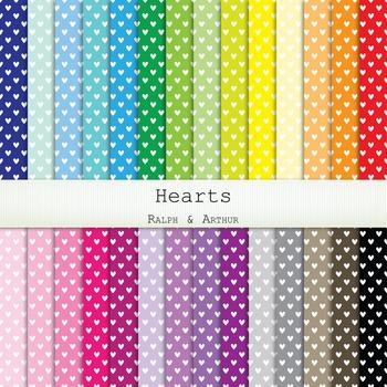 Digital Paper -  Hearts
