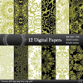 Digital Paper Instant Download Lace Layout Album Jpeg Abst