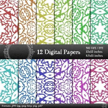 Digital Paper Instant Download Scrapbook Template Clip Pag