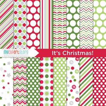 Digital Paper - It's Christmas