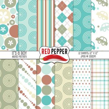 Digital Paper / Patterns - It's a Boy