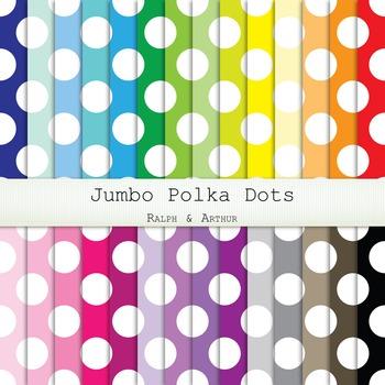 Digital Paper - Jumbo Polka Dots