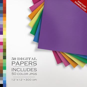 Digital Paper - Linen Paper Texture Pack