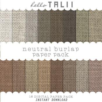 Digital Paper: Natural Burlap