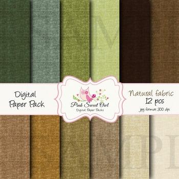 Digital Paper - Natural fabric paper background