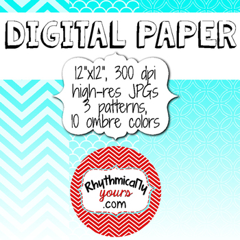 Digital Paper - Ombre Patterns