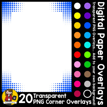 Digital Paper Overlays 10 - Page Corners 4 {Paper Overlays