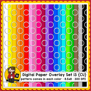 Digital Paper Overlays 13 {Paper & Overlays for CU}