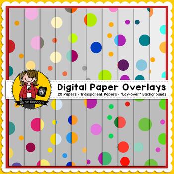Digital Paper Overlays 4 {Paper Overlays for CU}