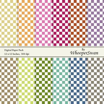 "Digital Paper Pack (12x12"", 300 dpi), Squares"