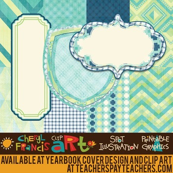 """Digital Paper Pack """"B2"""" with Frames"""