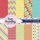 Digital Paper Pack - Bouncy Castle Patterned Background Gr
