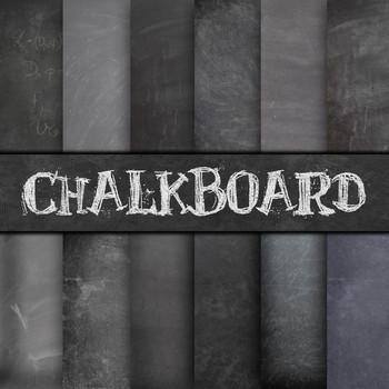 Digital Paper Pack - Chalkboard Backgrounds - 12 Different