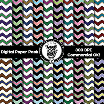 Digital Paper Pack - Chevron 1 - ZisforZebra