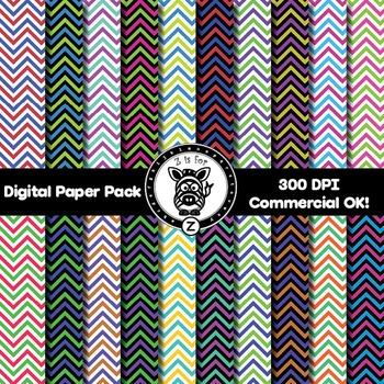 Digital Paper Pack - Chevron 3 - ZisforZebra
