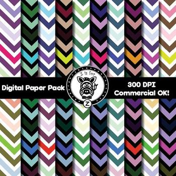 Digital Paper Pack - Chevron 6 - ZisforZebra