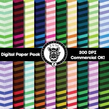 Digital Paper Pack - Chevron 8 - ZisforZebra