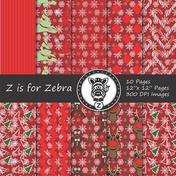 Digital Paper Pack Christmas 7 - CU ok { ZisforZebra}