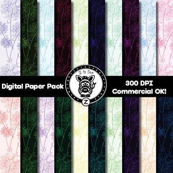 Digital Paper Pack - Dandelion - ZisforZebra