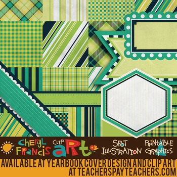 "Digital Paper Pack ""F"" with Ribbons & Frames"