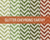 FREE Digital Papers - Glitter Chevron Patterns Earthy