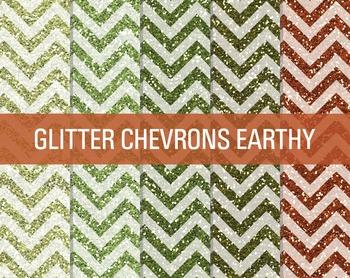 FREE Digital Papers - Glitter Chevron Patterns Earthy
