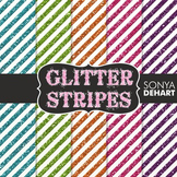 Digital Papers -  Glitter Stripes Patterns