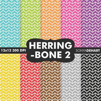 Digital Papers - Herringbone 2