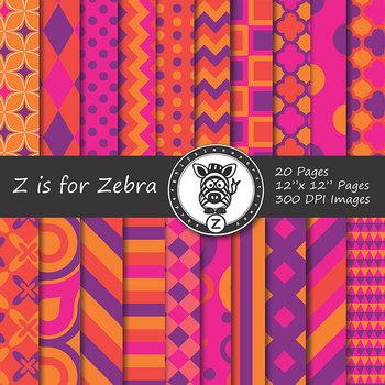 Digital Paper Pack Multicolored 10 - CU ok { ZisforZebra}