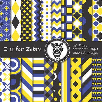 Digital Paper Pack Multicolored 7 - CU ok { ZisforZebra}
