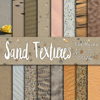 Digital Paper Pack - Sand Textures - 16 Different Papers -