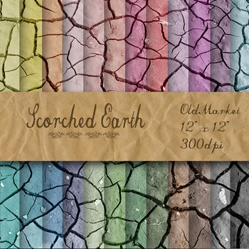 Digital Paper Pack - Scorched Earth - 24 Different Papers