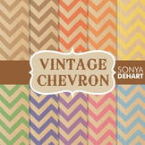 Digital Papers - Vintage Chevron