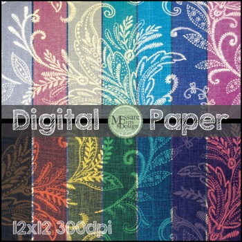 Digital Paper Paisley Pattern Background Texture {Messare