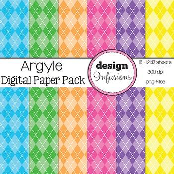 Digital Paper / Patterns: Argyle