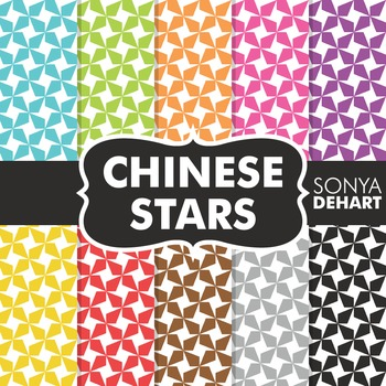 Digital Papers - Chinese Stars